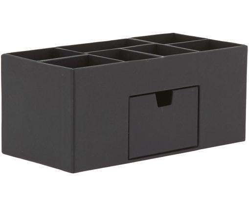 Büro-Organizer Vendela, Fester, laminierter Karton, Schwarz, 24 x 11 cm