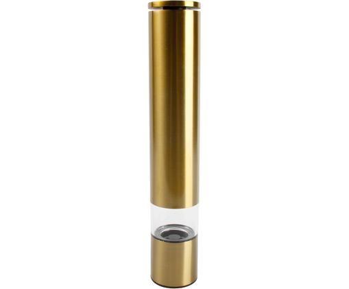 Gewürzmühle Sheda in Gold, Korpus: Acryl, Kunststoff (ABS), , Mahlwerk: Keramik, Messingfarben, Ø 5 x H 29 cm