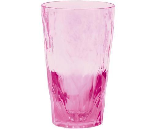 Bicchieri tipo long drink in materiale sintetico infrangibile Club, Rosa trasparente