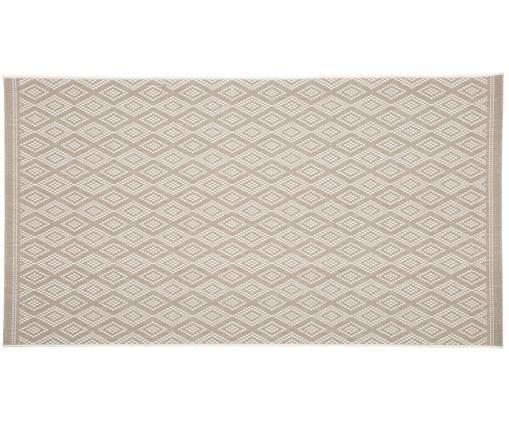 In- & outdoor vloerkleed Capri, Bovenzijde: polypropyleen, Onderzijde: polyester, Wit, beige, B 80 x L 150 cm (maat XS)