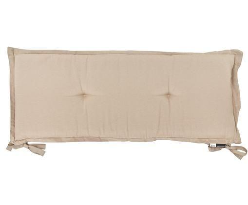 Cuscino sedia lungo Panama, 50% cotone, 45% poliestere, 5% altre fibre, Sabbia, bianco crema, Larg. 48 x Lung. 120 cm