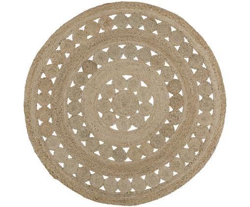 Runder Jute-Teppich Shyam, handgefertigt