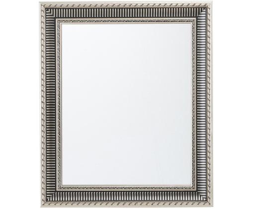 Prostokątne lustro ścienne z drewna Paris, Rama: odcienie srebrnego Lustro: szkło lustrzane, S 52 x W 62 cm