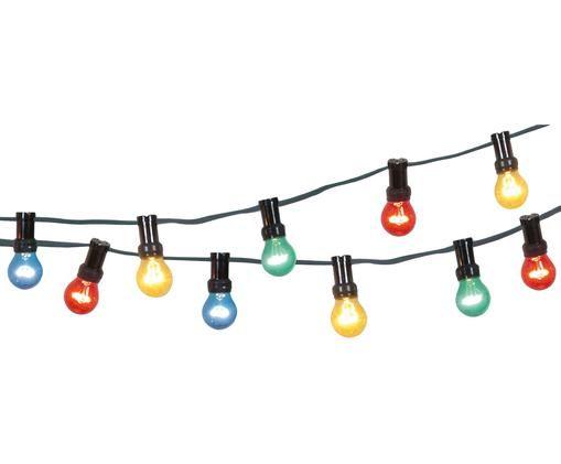 Lichterkette Jubile, L 620 cm, Kunststoff, Mehrfarbig, L 620 cm