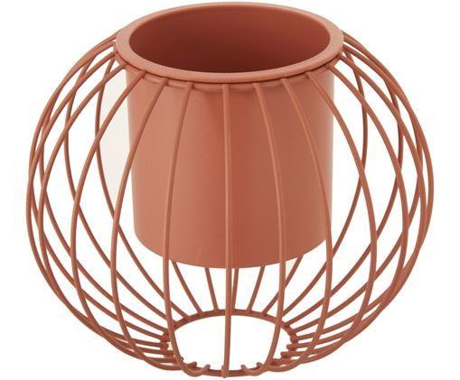 Portavaso Urma, Metallo, Color terracotta, Ø 20 x Alt. 17 cm