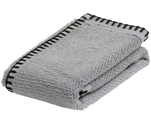 Asciugamano per ospiti Deluxe Prime, Cotone, qualità media 550g/m², Grigio argento, Larg. 30 x Lung. 50 cm