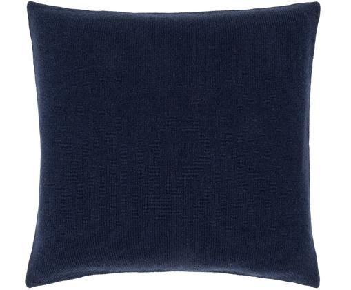 Poszewka na poduszkę z kaszmiru Viviana, Ciemny niebieski