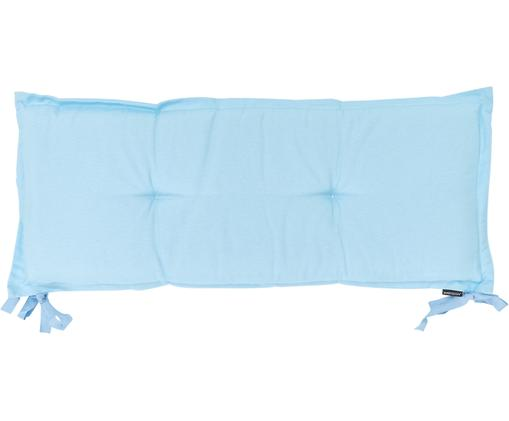 Cuscino sedia lungo Panama, 50% cotone, 45% poliestere, 5% altre fibre, Azzurro, Larg. 48 x Lung. 150 cm