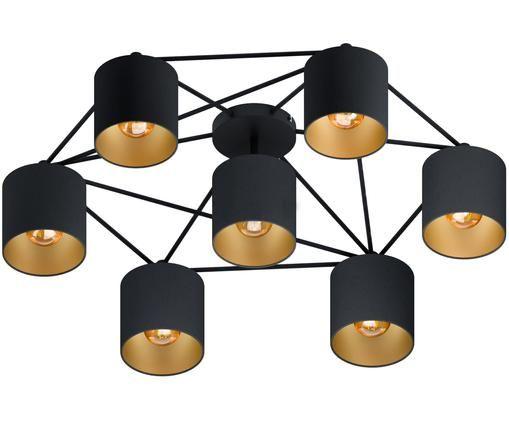 Deckenstrahler Staiti in Schwarz, Lampenschirm: Polyester, Schwarz, Ø 84 x H 24 cm