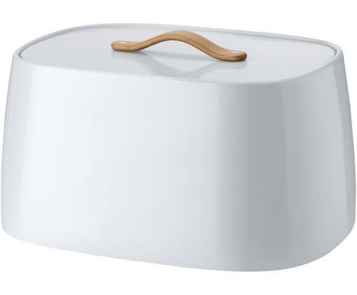 Scatola per il pane di design Emma, Manico: legno di faggio, Bianco, Larg. 33 x Alt. 17 cm