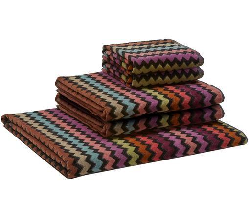 Set asciugamani Warner, 5 pz., Multicolore