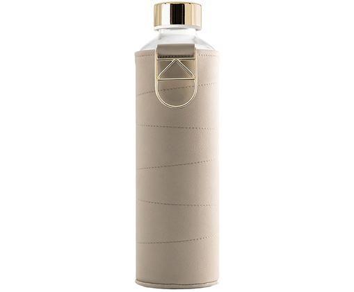 Bidon Mismatch, Tapicerka: sztuczna skóra, Beżowy, transparentny, Ø 8 x W 26 cm