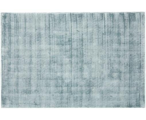 Handgewebter Viskoseteppich Jane, Flor: 100% Viskose, Eisblau, B 200 x L 300 cm (Größe L)