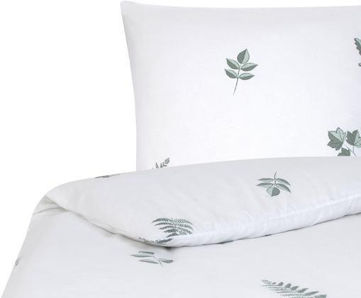 Flanell-Bettwäsche Fraser mit winterlichem Blattmuster