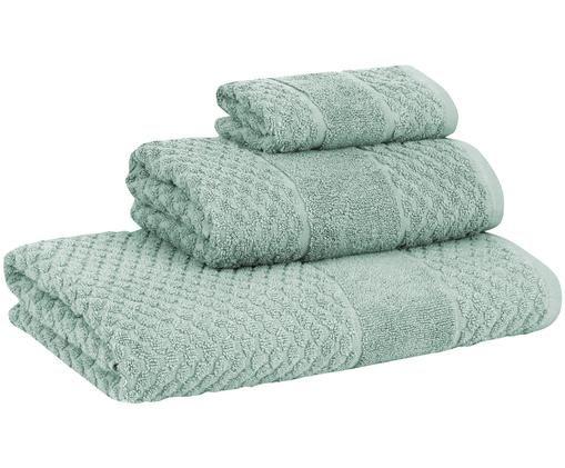 Set asciugamani Katharina, 3 pz., 100% cotone, qualità leggera 500g/m², Menta, Diverse dimensioni