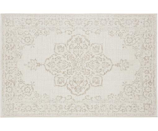 In- en outdoor vloerkleed Tilos in vintage look, Polypropyleen, Crèmekleurig, beige, B 80 x L 150 cm (maat S)