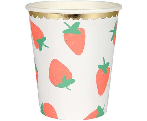 Vasos de papel Strawberry, 8uds.