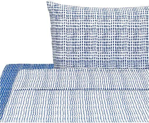 Completo letto Gocciole, Blu, bianco