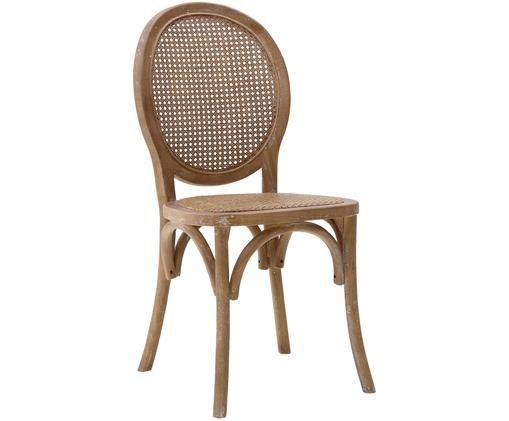 Rattan-Stuhl Ramoc, Beige, Braun