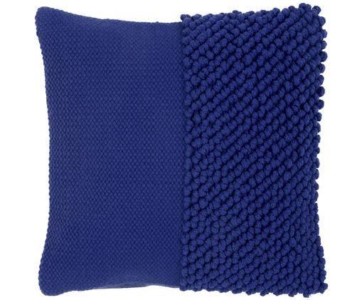 Kissenhülle Andi, 90% Acryl, 10% Baumwolle, Blau, 40 x 40 cm