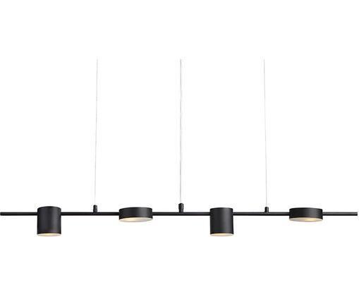 Lampa wisząca Row, Szkło akrylowe, metal, Czarny, S 106 x W 150 cm