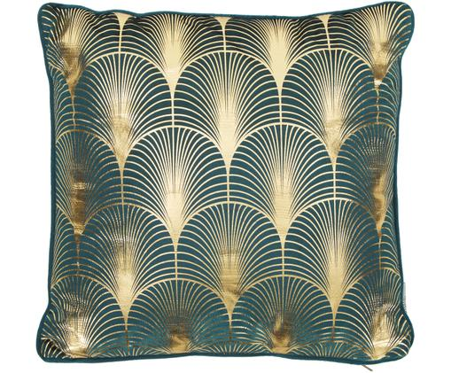 Coussin en velours à imprimé Art Deco brillant Whety