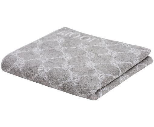 Asciugamano con stampa fiordaliso Classic Cornflower, Cotone (spugna), qualità media 536 g/m², Grigio argento, bianco, Telo bagno