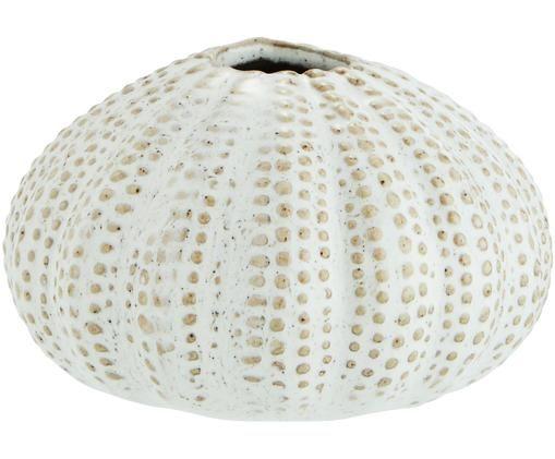 Vase Sea Urchins aus Steingut, Weiss, Beige