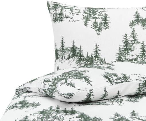 Flanell-Bettwäsche Nordic mit winterlichem Motiv