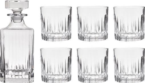 Kristall-Whiskey-Set Timeless, 7-tlg.