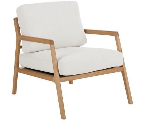 Fotel z podłokietnikami z drewna dębowego Becky