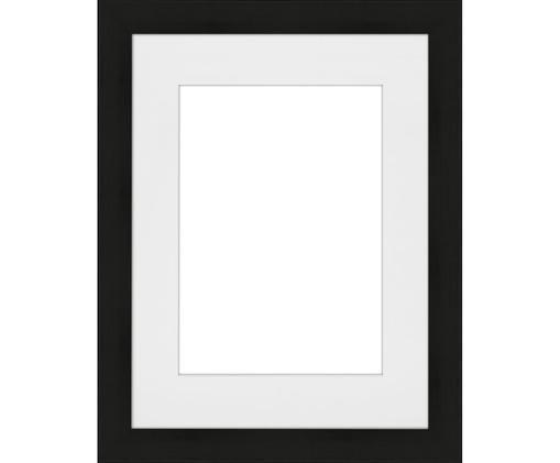 Cornice fotografica Apollon, Cornice: legno di pino Monterey ve, Retro: Pannello di fibra a media, Nero, 18 x 24 cm