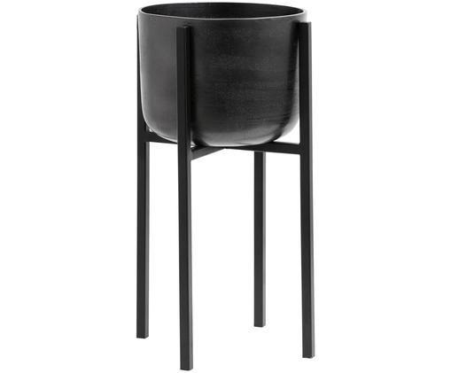 Osłonka na doniczkę Minell, Stelaż: metal powlekany, Czarny, Ø 28 x W 50 cm