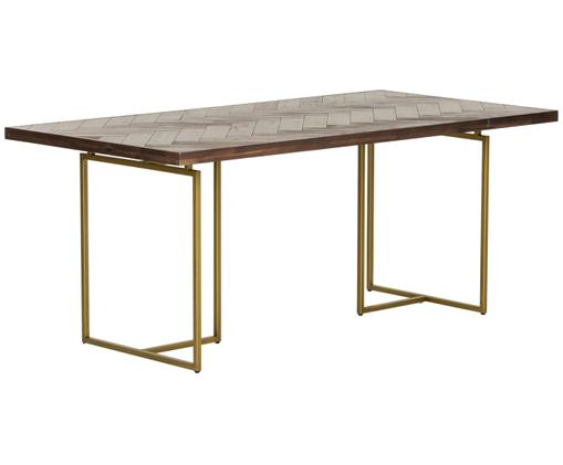 Mesa de comedor Class chapada en madera de acacia, Marrón