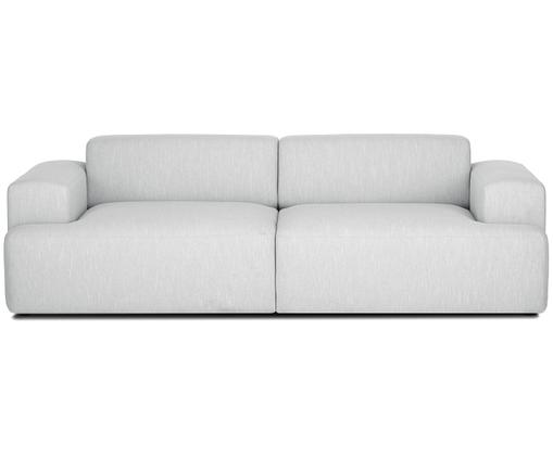 Sofa Marshmallow (3-Sitzer), Bezug: Polyester 35.000 Scheuert, Gestell: Massives Kiefernholz, Spa, Füße: Kiefernholz, Hellgrau, B 240 x T 101 cm