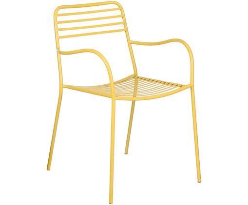 Chaises de balcon en métal et à accoudoirs Tula, 2 pièces