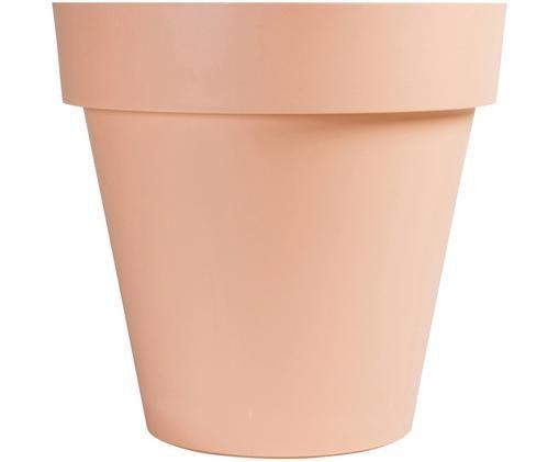 Osłonka na doniczkę Brixton, Tworzywo sztuczne, Blady różowy, Ø 44 x W 45 cm