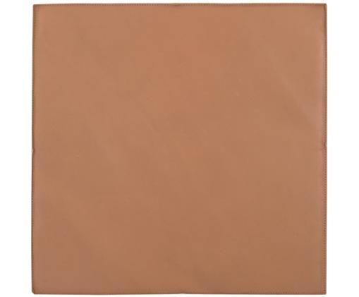 Leder-Sitzauflage Elegance, Vorderseite: 100% Leder, Rückseite: 100% Baumwolle, Cognac, 40 x 40 cm