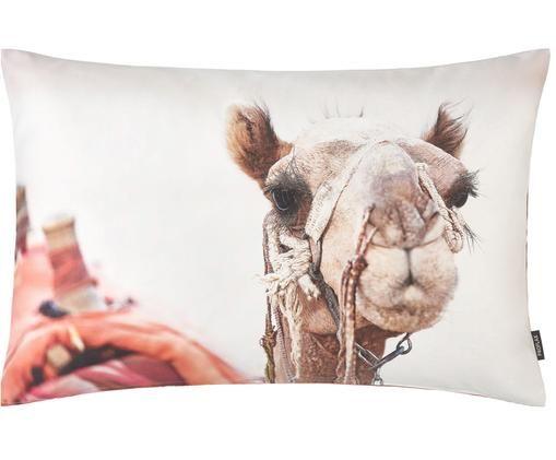 Poszewka na poduszkę Sarabi, Bawełna, Beżowy, wielobarwny, S 40 x D 60 cm