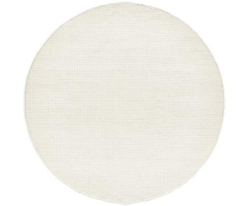 Tappeto in lana tessuto a mano Amaro, Bianco crema, Ø 140 cm
