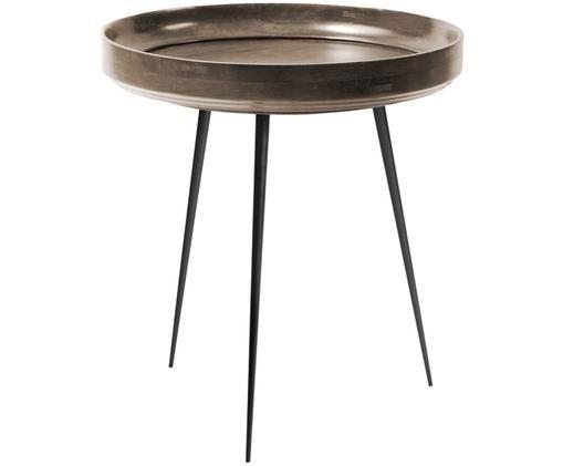Table d'appoint design en bois de manguier Bowl Table, Gris foncé, noir