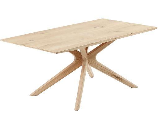 Tavolo da pranzo in legno di quercia Armande, Legno di quercia, Legno di quercia, Larg. 180 x Prof. 90 cm