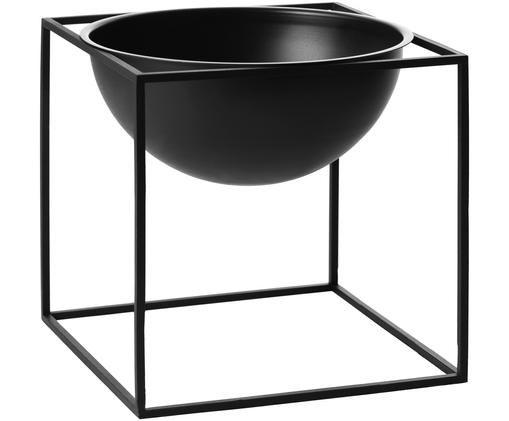 Schale Kubus, Stahl, lackiert, Schwarz, 23 x 23 cm