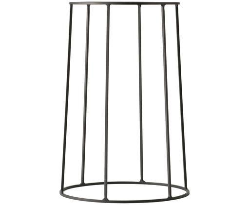 Stand per portavaso Wire Base, Acciaio, verniciato a polvere, Nero, Ø 23 x Alt. 40 cm
