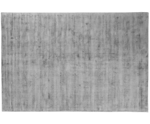 Tappeto in viscosa tessuto a mano Jane, Vello: 100% viscosa, Retro: 100% cotone, Grigio, Larg. 200 x Lung. 300 cm