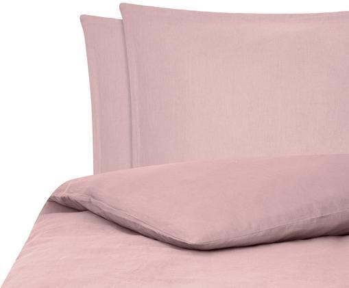 Gewaschene Leinen-Bettwäsche Breezy in Altrosa, 52% Leinen, 48% Baumwolle Mit Stonewash-Effekt, Altrosa, 240 x 220 cm