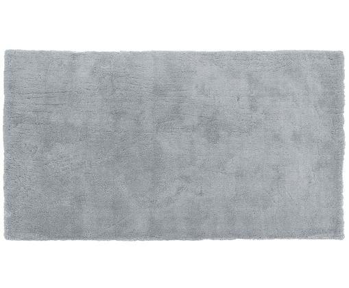 Alfombra de pelo largo Leighton, Parte superior: 100%poliéster (microfibr, Reverso: 100%poliéster, Gris oscuro, An 80 x L 150 cm (Tamaño XS)