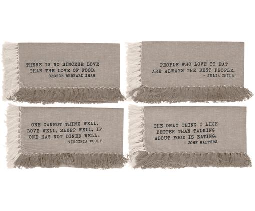Tovaglietta americana Enjoy 4 pz, Cotone, Sabbia, Larg. 33 x Lung. 48 cm