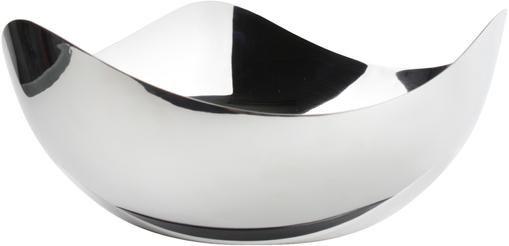 Glänzende Schale Tris aus Edelstahl