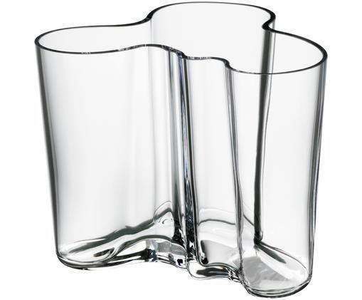 Design-Vase Alvar Aalto, Glas, Transparent, H 10 cm